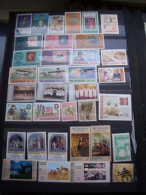 Nicaragua Stamps Lot 1 X 125 Cancelled With Gum Hinged / Mh / Used Stamps - All