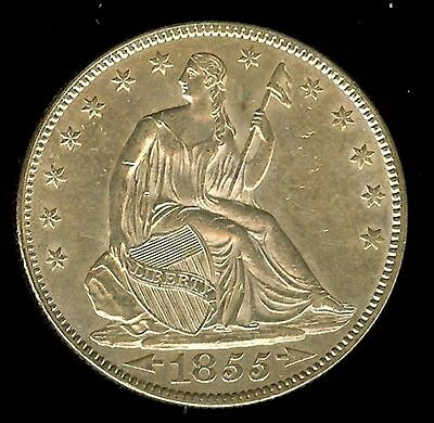 1855 Liberty Seated  Half Dollar -Arrows- Uncirculated+ @@@ The Nicest « @@@