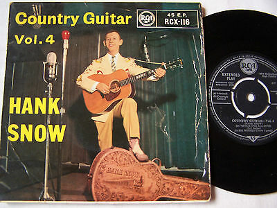 """Hank Snow -  7"""" 4 Track Ep -  Country Guitar Vol 4"""