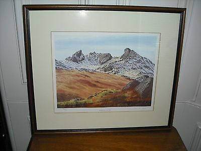 Signed Limited Edition 34/500 Print The Cobbler Neil J Barlow Scottish Mountain