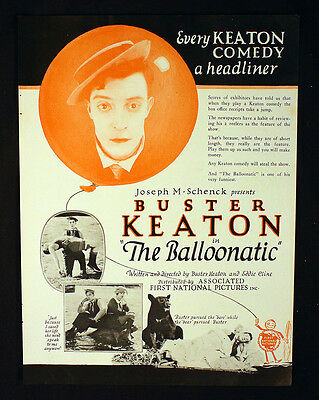buster Keaton The Balloonatic OR Daydreams Ad Silent Film Hollywood Movie 1923