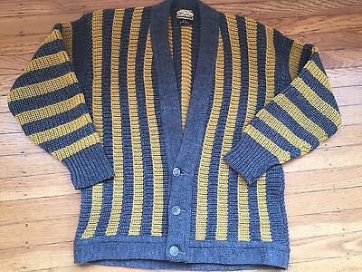 Vintage 1960's Man's Wool Cardigan Sweater - Small