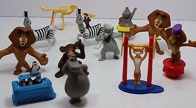 Lot of Madagascar Mcdonalds Figures Toys Cake Topper