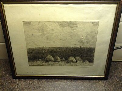 Early 1900'S Etching By William Westley Manning 1868 - 1954