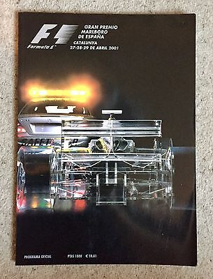 Spanish GRAND PRIX 2001 FORMULA ONE F1 Official Race Programme Catalunya