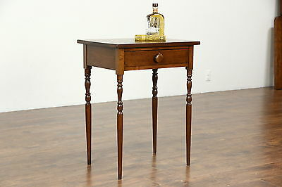 Walnut 1830's Antique Sheraton Lamp Table or Nightstand