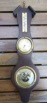 Vintage  Barometer Thermometer Relative Humidity Wall Weather Station~ GERMANY