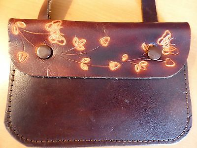 Leather pouch/purse with long strap