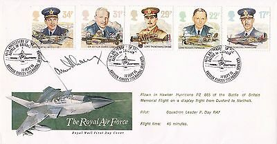 FDC Signed by Battle of Britain Fighter Ace James Harry 'Ginger' Lacey