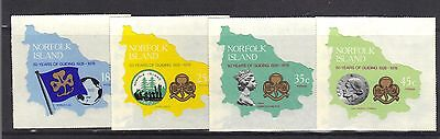 NORFOLK ISLAND.50th ANNIVERSARY OF THE GIRL GUIDES.SELF ADHEASIVE 1978 MNH