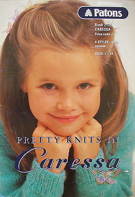 PATONS CARESSA KNITTING PATTERN BOOK 2125 Pretty Knits for Children
