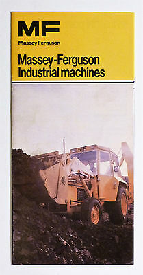 Massey Ferguson Industrial Machines Fold-Out Brochure.. Please See Pictures.