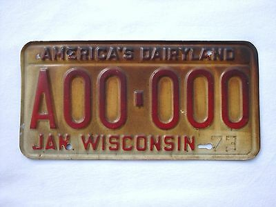 RARE 1973 SAMPLE WISCONSIN Vintage License Plate