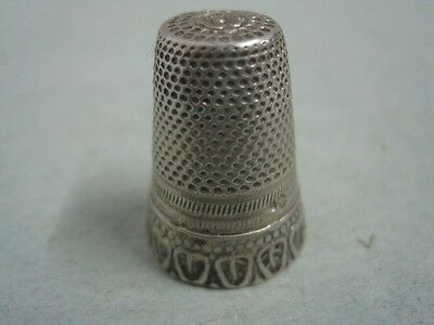 Antique Silver thimble collection  with a sheets