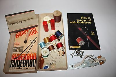 Vtg Fishing Gudebrod Rod Winding Thread Kit Multiple Sizes and Colors