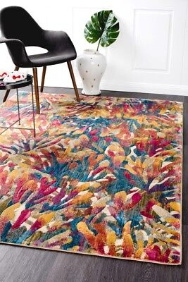 DIANA 855 TROPICAL Beige Large Quality Modern Floor Mat Carpet FREE DELIVERY*