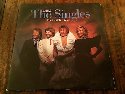 Abba - The Singles The First Ten Years Rare Vinyl Double Lp 1982..