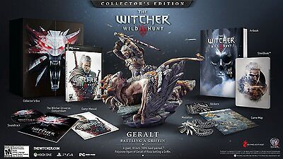 The Witcher 3 III: Wild Hunt - Collector's Edition [PC-DVD Computer, RPG] NEW