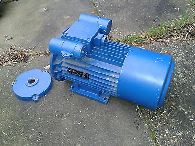 Electric motor 240 volt 2HP 1.5 KW 1370 rpm As used on hydrovane compressor