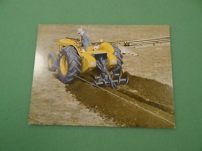 Massey Ferguson 202 Industrical Tractor With Trencher Advertising Spec Card