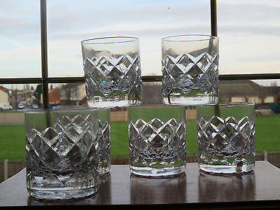 "x6 Whiskey Glasses Tumblers Tot Glasses Crystal Cut Glass 3"" Tall"