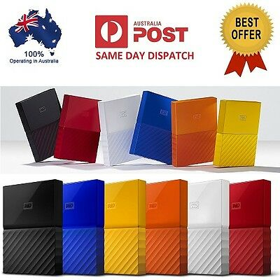 "Western Digital WD My Passport 4TB 2.5"" Portable External Hard Drive HDD"