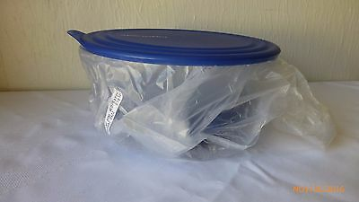 New Tupperware Simply Elegant Sapphire Blue Serving Bowl With Seal 2.3L