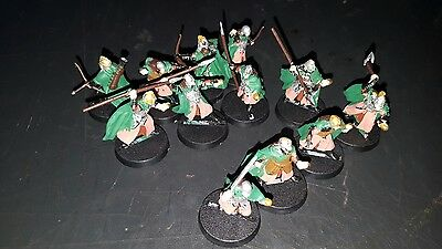 Lord of the rings warhammer miniatures x 12 Warriors of Rohan
