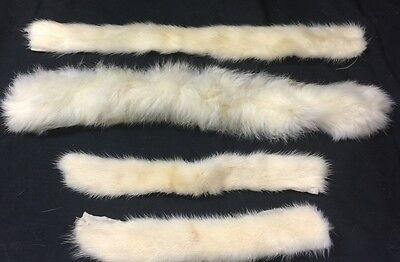 Vintage Lot Of 4 Fur Collar Pieces Trim