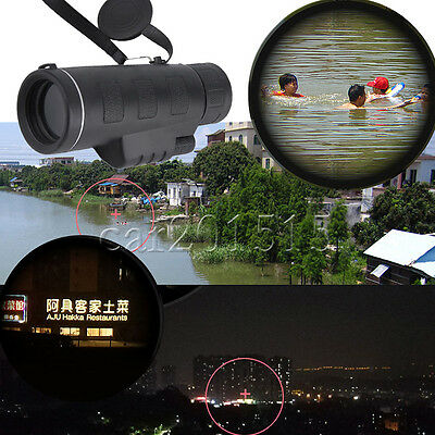 Day & Night Vision 40x60 HD Optical Monocular Outdoor  Hunting Hiking Telescope