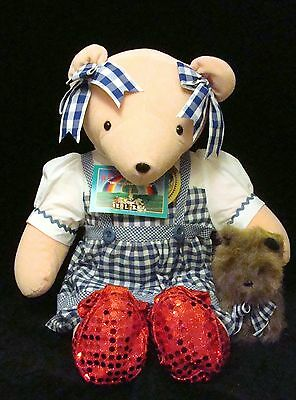 JUDY BEARLAND Wizard of Paws OZ DOROTHY North American Bear TOTO MIP w/Tags VIB