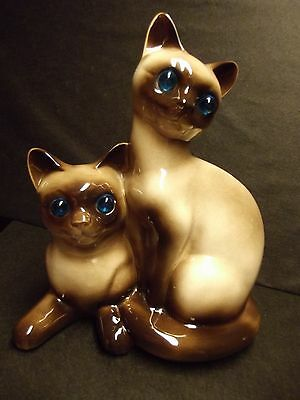 Vintage Tv Lamp Siamese Cats