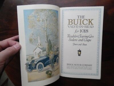 1918 BUICK Valve-In-Head Motor Car Catalog Fours & Sixes Early Edition ORIG VG+