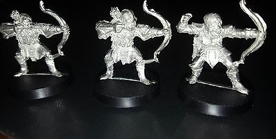 Lord of the rings warhammer miniature Orc archers x 3 Metal