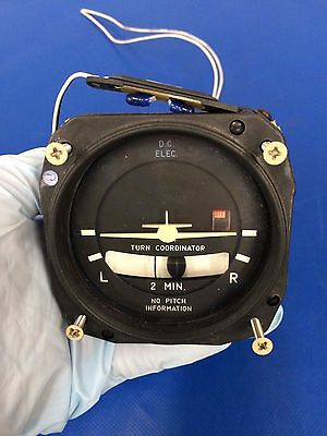 Mid Continent Electric Turn Coordinator Lighted 14/28V P/N 1394T100-3Z (0217-36)