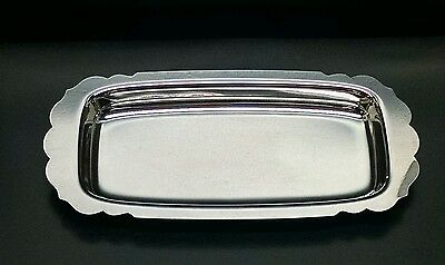 Vintage WM Rogers MFG .Co 99 Silverplate Butter/Cranberry Tray-Dish