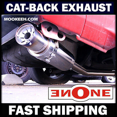 """Mookeeh MK1 3"""" Stainless Steel Cat-Back Exhaust Starion Conquest"""