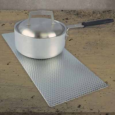 NEW Easy Clean Stove & Counter Top Mat w/ Silver Non-Skid Textured Metal Surface
