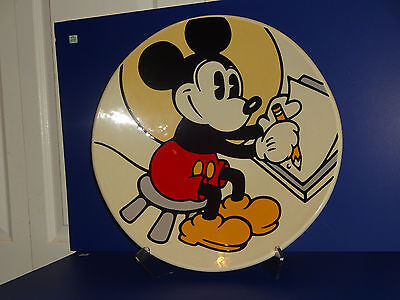 """BRENDA WHITE Disney MICKEY MOUSE The Illustrator 18"""" W Charger Plate A/P EX COND"""