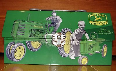 John Deere Storage Tin  Lunch Box Style Very Collectible - wrench handle