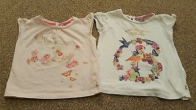 Girls x2 Ted Baker tops Age 6-9 months in very good condition