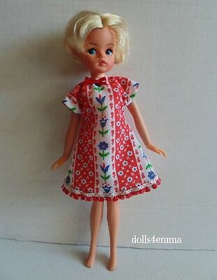 Retro NIGHTIE DRESS Handmade Doll Clothes for vintage Sindy Fashion NO DOLL