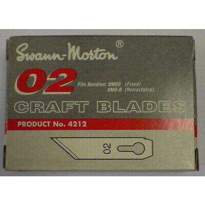 NEW Swann Morton SM 02 Blades Box of 50 from Hobby Tools Australia