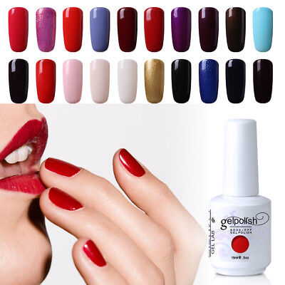 GEL LAB 15ml Soak Off Nail Gel Polish UV LED Varnish Top Coat Primer Manicure