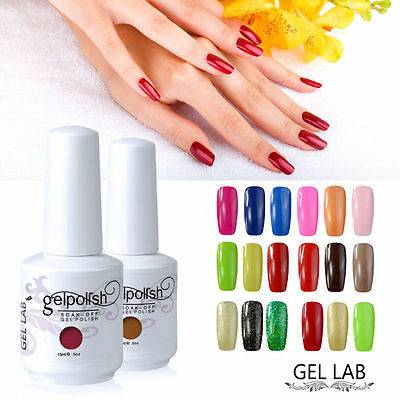 GEL LAB Soak Off Nail Gel Polish UV LED Varnish Top Base Coat Manicure Tool 15ml
