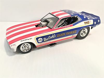 """1320 Floppers Don Cook's """"Damn Yankee"""" Plymouth Funny Car LE 1:24 Wrong Box"""