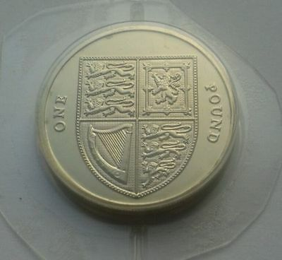 UK One Pound (£1) 2008 Definitive - The Last Round Royal Shield of Arms