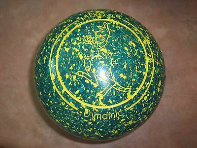 Aero DYNAMIC Lawn Bowls Size 3H WB23 Green Speckled Gripped Near New