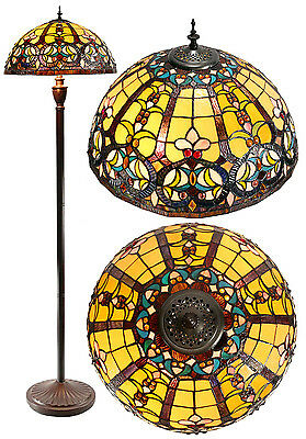 "18"" Traditional Victorian Style Leadlight Stained Glass Tiffany  Floor Lamp"