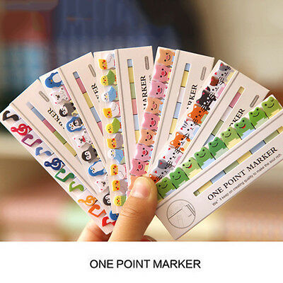 7 Styles Animal Pattern Memo Pads N Times Stickers Book Markers point Bookmark